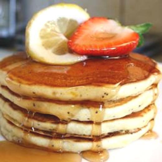 SUNDAY MORNING LEMON POPPY SEED PANCAKES | Breakfast Foods: Pancakes ...