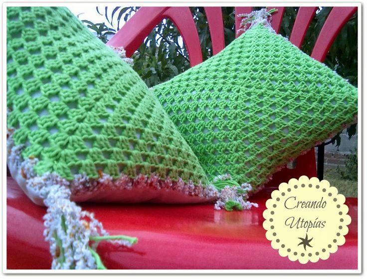 Utopías: Almohadones en Crochet | Mis diseños de Tejidos y De