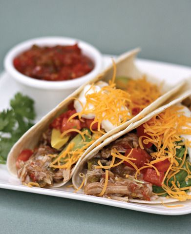 Slow Cooker Chile Verde Pork Tacos - (5 various recipes from Six ...