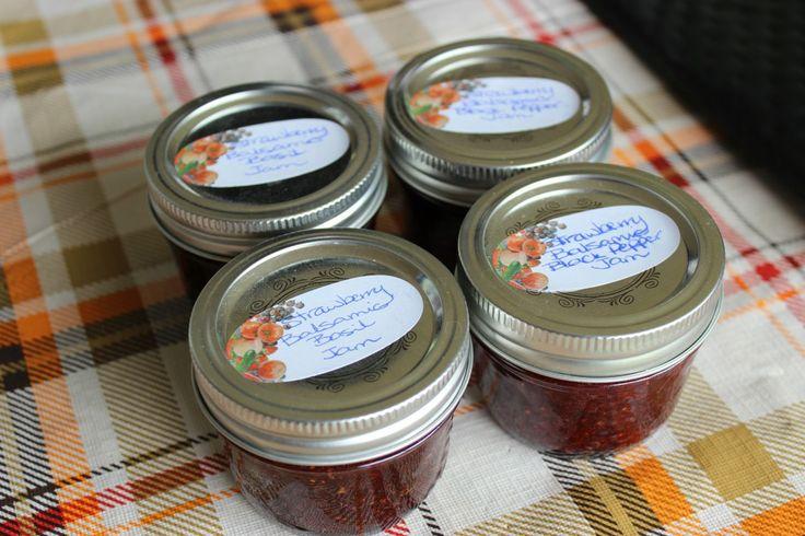 Strawberry Balsamic Black Pepper Jam & Strawberry Balsamic Basil Jam