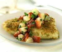 Grilled Bass with Strawberry Salsa 137 Cals per serving - serves 4 WOW ...