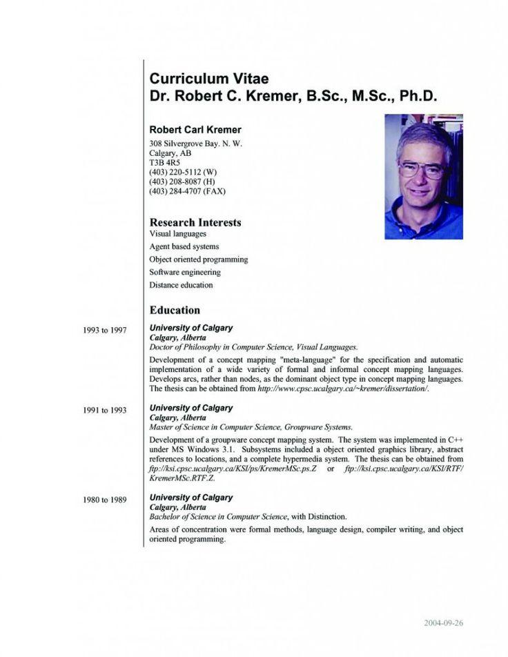 Resume Sample For Phd Application
