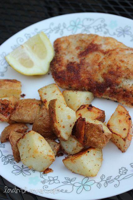 parmesan roasted potatoes! #dinner #food #sides