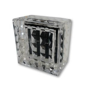 Paloma 4 in. Square Solar Glass Block Lights, White (10-Pack)-SNA-08G-10 at The Home Depot
