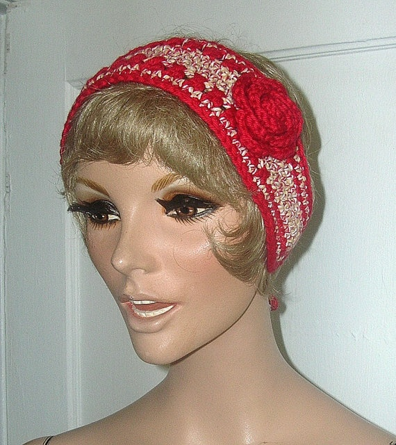 Crochet Hair Band Youtube : ... Crochet Head Band All Cotton Rose by Guerillagranny, $10.00 youtube to
