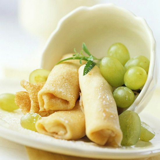 Breakfast - Sweet Cheese Blintzes - don't these look delish?