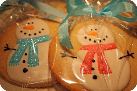 Snowman Christmas Cookies