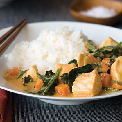 Thai Red Curry Fish Stew (Mushrooms would make it 10 times better!)