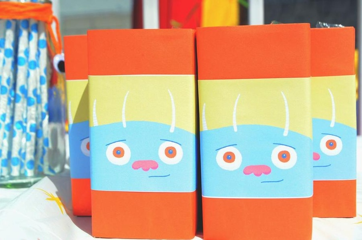 monster juice boxes | party ideas | Pinterest