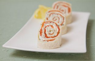 These smoked salmon canapé rolls will be perfect for Christmas. We'd ...