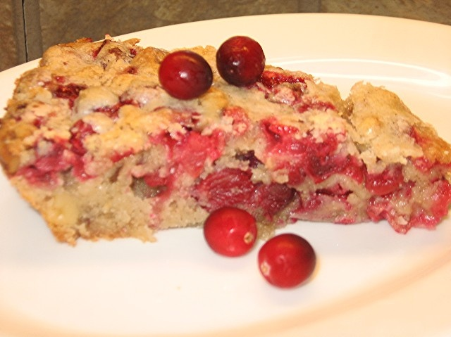 CRUSTLESS CRANBERRY-WALNUT PIE | eat dessert first....:) | Pinterest