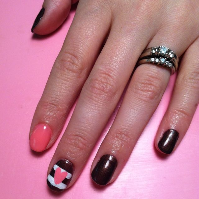 valentine day nail art for short nails