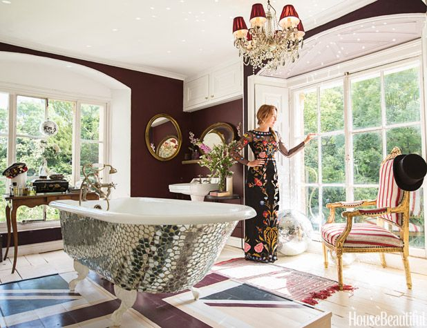 Alice Temperley's Boho Glam Bathroom - Alice Temperley House - House Beautiful