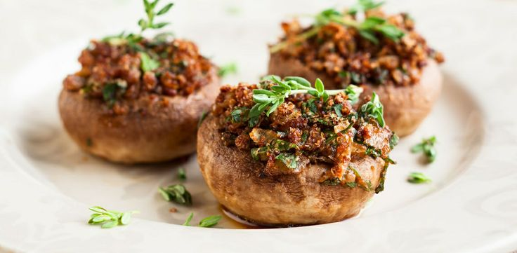 Seafood-Stuffed Mushroom Caps: A great appetizer to serve at your next ...