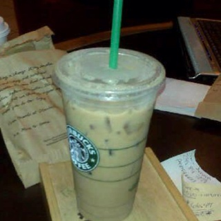 Starbucks Ice Soy Chai Tea it's addicting and yummy it satisfies me ...