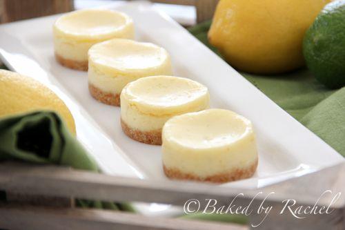 Mini Lemon-Lime Cheesecakes from @Rachel {Baked by Rachel}