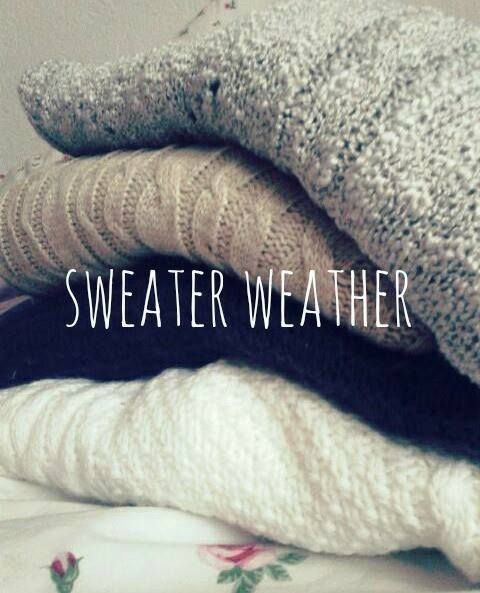 am i the only one who loves sweater weather?