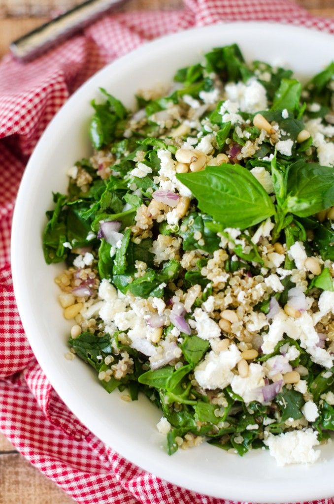 ... and feta spinach quinoa salad with roasted grapes pears almonds