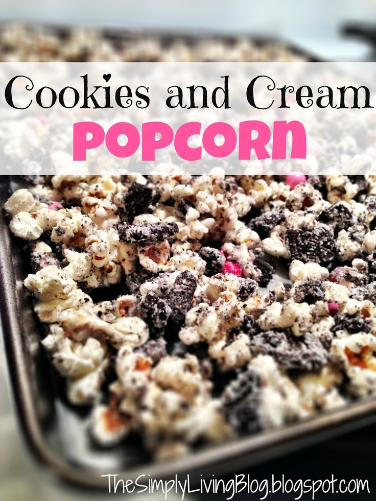 Simply Living : Cookies and Cream Popcorn