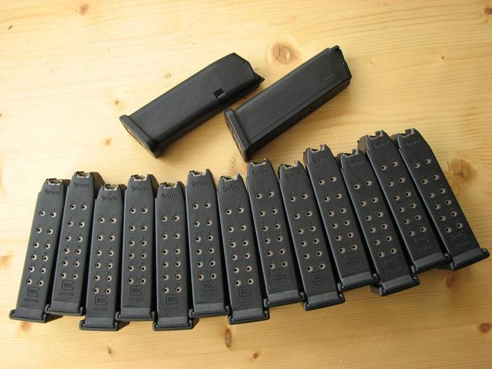 Glock 19 Magazines. Everyone needs a minimum of 12.