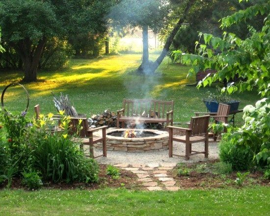 Outdoor sitting area with fire pit if ever a house for Outdoor sitting area ideas
