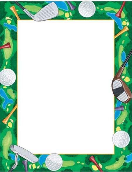 golf clip art | Golf clip art border | Golf | Pinterest