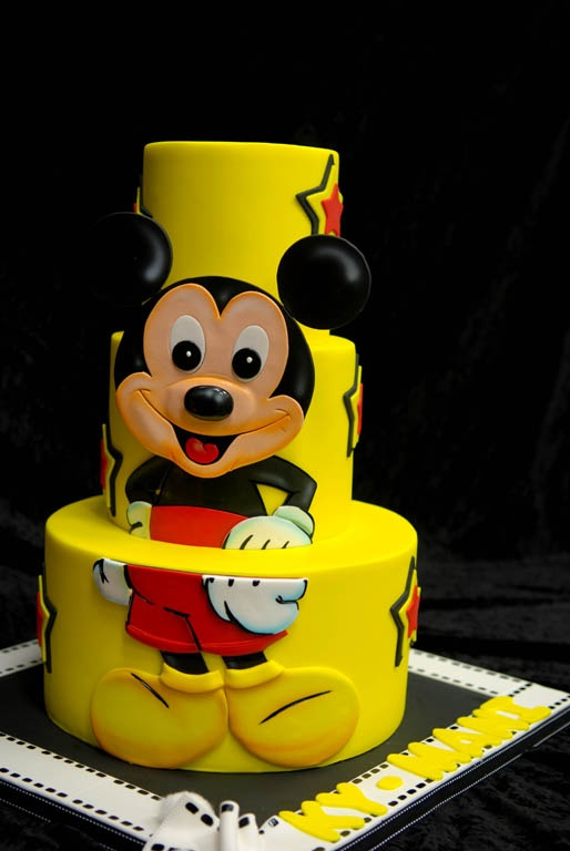 Mickey cake! Arica Ludwig, this is so what you should have had at your wedding :)