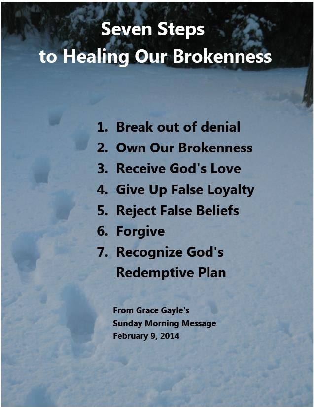 seven steps to healing our brokenness spiritual
