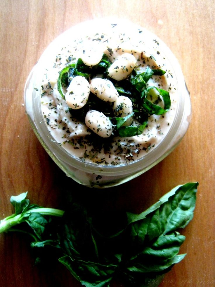 white bean and basil hummus @ the Ruby Red Apron http://www ...