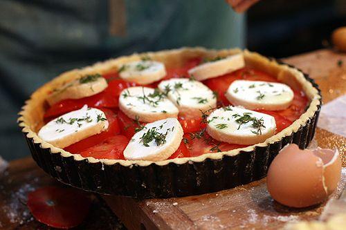 French Tomato Tart - includes dough recipe