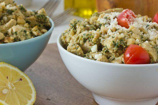 Recipe: Creamy Chicken Salad with Parsley Walnut Pesto & Sun-Dried ...