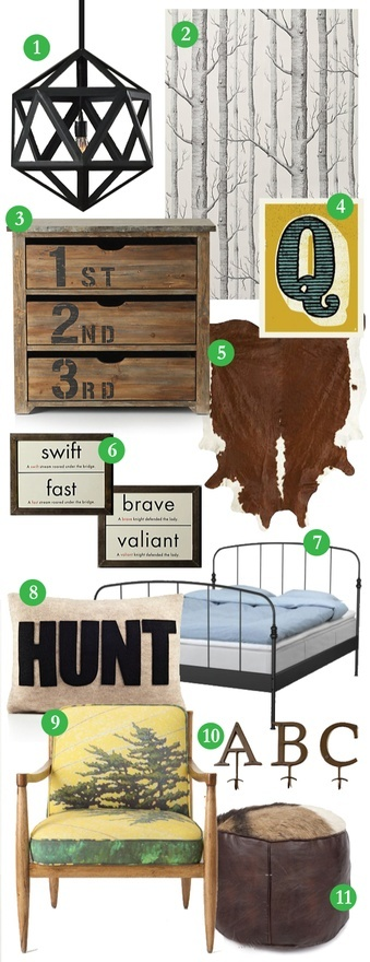 Boys room - hunting decor