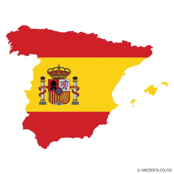 HD wallpapers spain map flag