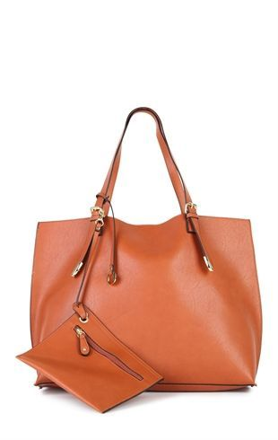 Deb Shops Vinyl 2 Strap Tote Bag with Small Change Purse Attached $36.00