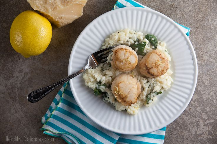 Lemon Risotto with Seared Scallops | Favorite Recipes | Pinterest