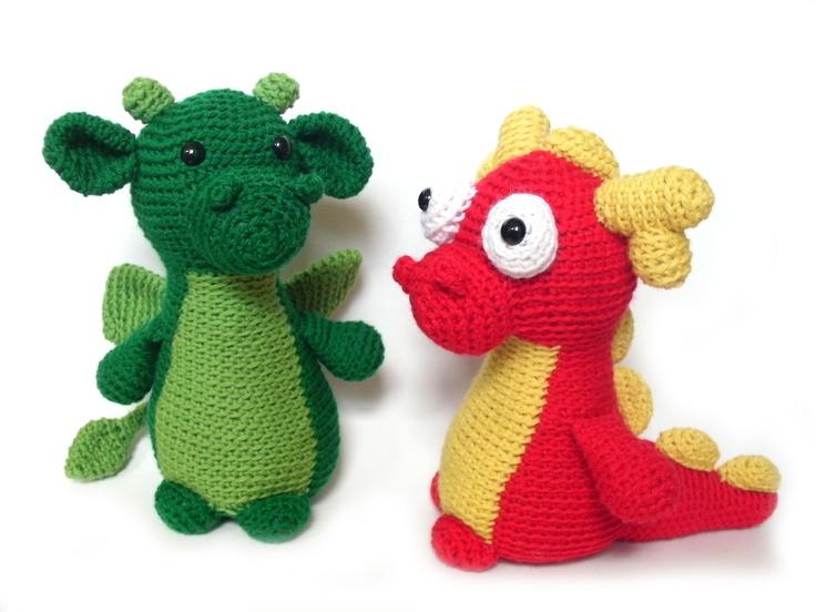 Free Crochet Stuffed Dragon Pattern : Amigurumi dragon crochet pattern Baby Dreams Pinterest