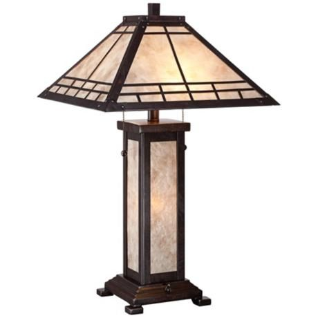 madison mission style mica table lamp style 2h954 for a timeless. Black Bedroom Furniture Sets. Home Design Ideas
