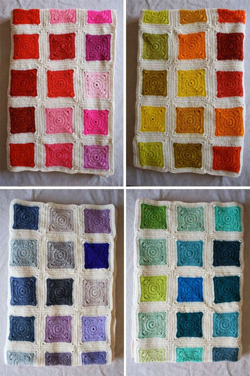 Whit's Knits: Bear's Rainbow Blanket - The Purl Bee - Knitting Crochet Sewing Embroidery Crafts Patterns and Ideas!