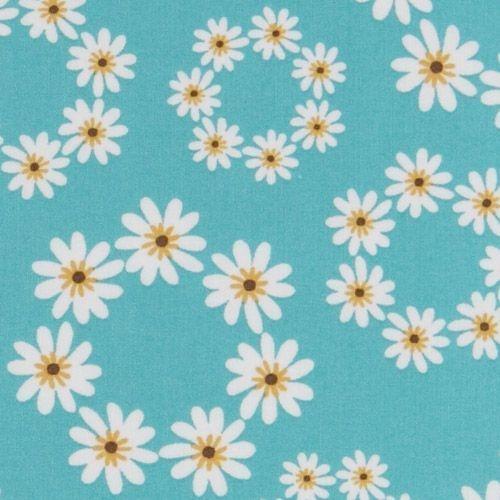 161499 blue daisy fabric USA designer Robert