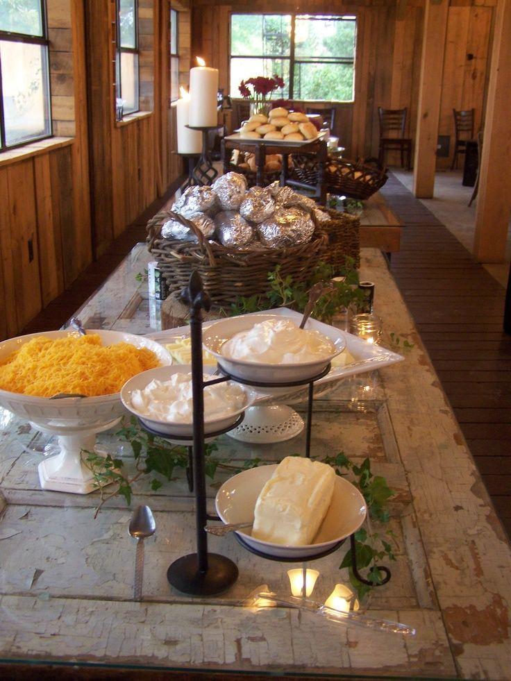 Baked Potato Bar=Yum!. | Buffet mariage... ... | Pinterest