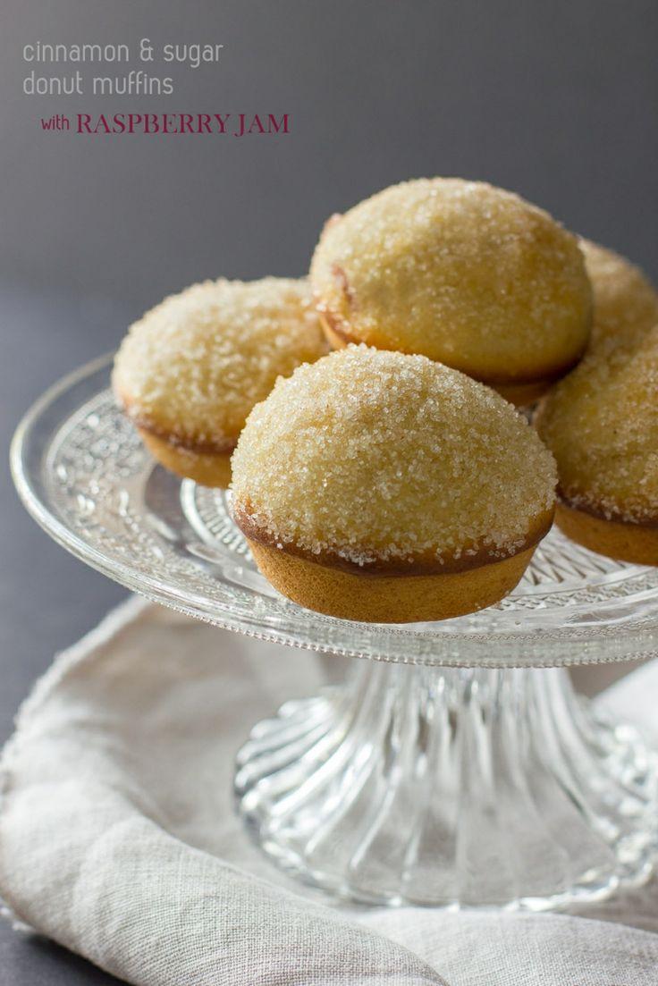 Cinnamon & Sugar Donut Muffins with Raspberry Jam » cake crumbs ...