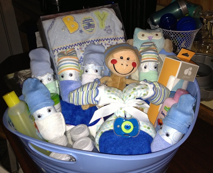 baby shower basket gifts pinterest