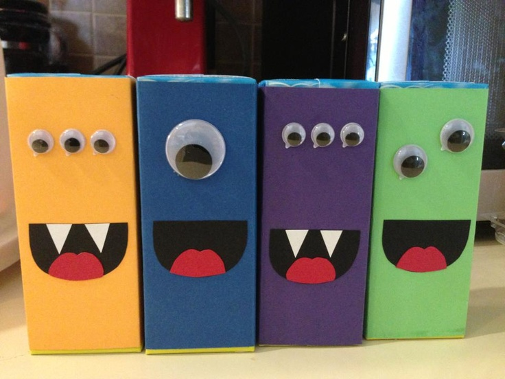Monster juice boxes | Birthday party ideas | Pinterest