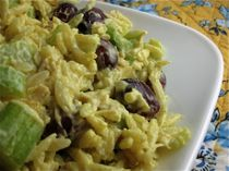 Curried Chicken Pasta Salad....had some in Oregon....it was delicious ...