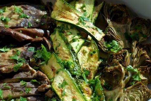 Broiled zucchini ... @Catrina Rawson gave me two gigantic zucchinis ...
