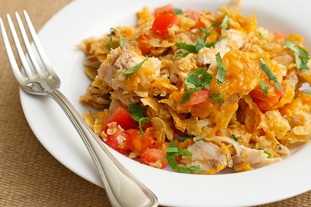 OBSESSED with this recipe. Chicken Tortilla Casserole!