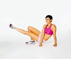 no crunches: ab exercises ~ drop with lift