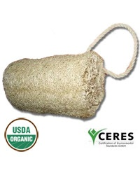 Certified Organic Loofah Sponge with Cord $3