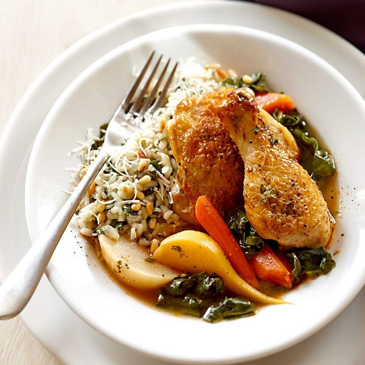 White Wine-Braised Chicken with Root Vegetables