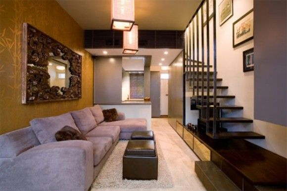 Stairs In Narrow Living Space 1 Decor Contemporary Modern Pintere